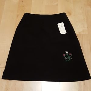 Dresses & Skirts - 2 for $16 - Black Skirt with Floral Embroidery